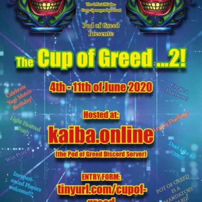 Cup of Greed…2! – Tournament Announcement